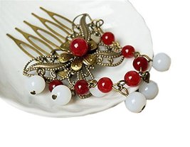 Set Of 2 Charming Traditional Chinese Wedding Butterfly Hair Combs Accessory