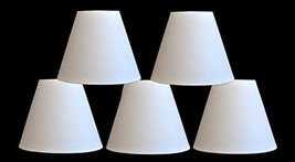 Urbanest Set of 5 Linen Chandelier Lamp Shade with Rolled Edge, 3-inch by 6-inch - $30.68