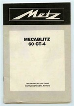 Mecablitz 60 CT-4 Camera Instruction Guide - $11.88