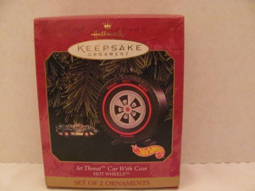 Primary image for Hallmark Keepsake Ornament - Hot Wheels Jet Threat Car with Case (2 Piece Set) 1