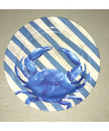 Melamine Blue Crab Plates Bowls 4 sizes YOU CHOOSE Dishwasher Safe Beach... - $23.10+