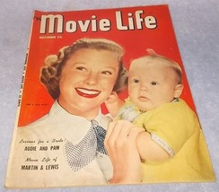 Movie Life Magazine November 1951 Martin and Lewis June Allyson Cover - $12.95