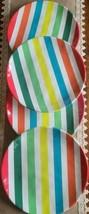 "Zak Designs ~ Four (4) Melamine ~ Striped Design ~ 11"" Dinner Plates - $49.50"