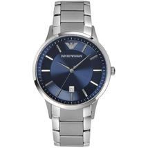 Emporio Armani AR2477 Blue Dial Stainless Steel Strap Men's Watch - $154.99
