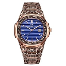 Onola Men's Vintage Homage Wrist Watch ON3808 (Rose Gold & Blue) - $32.00