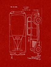 Automobile Patent Print - Burgundy Red - $7.95+