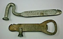 """MANUEL CIGARS"" & ""GEO. F. MURRAY"" Advertising Cigar Box Openers, early ... - $19.00"