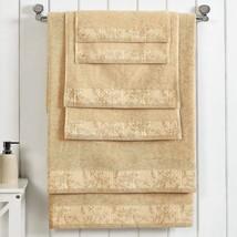 Superior Wisteria Cotton Floral Border 2 Bath+2 Hand+2 Face Towel Set Fr... - $49.95