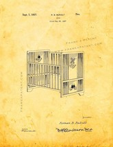 Crib Patent Print - Golden Look - $7.95+