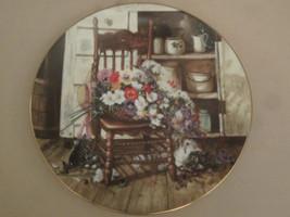 COUNTRY CUTTINGS Collector Plate GLENNA KURZ Flowers from Grandma's Garden - $28.98