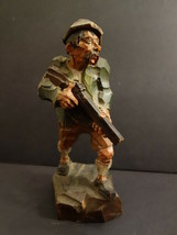 "Antique Statue Hunter 10""3/4 Merano South Tyrol Black Forest ANRI 1920 's - $245.00"