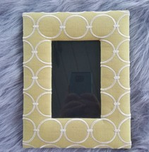 Sage Green Fabric Picture Frame 4x6 Photo Tabletop Vertical Horizontal EUC - $11.29