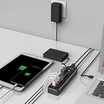 Powered USB Hub 3.0, atolla Aluminum 8-Port USB Hub with 4 USB 3.0 Data Ports an image 7