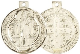 ST. BENEDICT MEDAL - 14KT Gold Medal - NO CHAIN – 0027B
