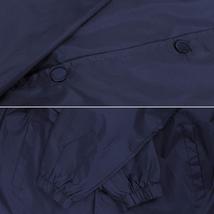 Men's Windbreaker Lightweight Waterproof Sherpa Button Up Athletic Coach Jacket image 8