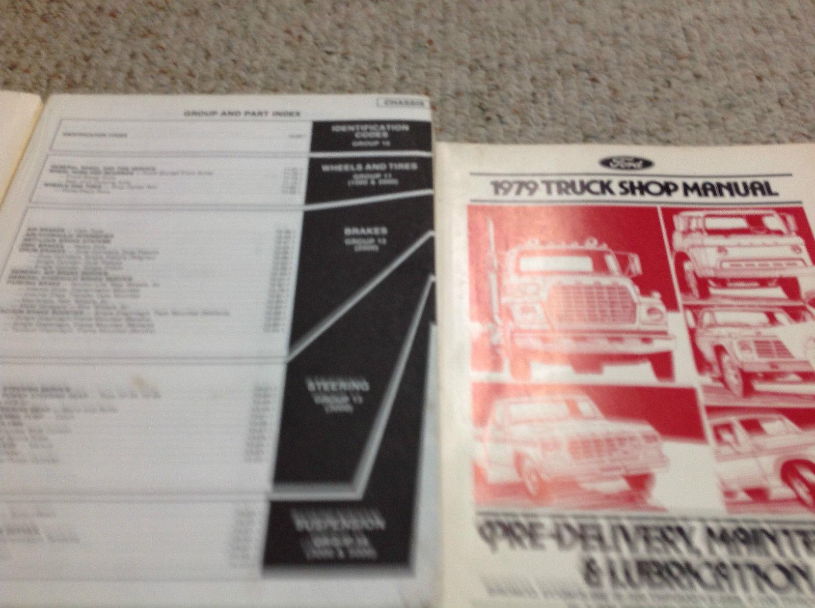 1979 Ford MEDIUM & HEAVY DUTY Truck TRUCKS Service Shop Manual Set W Specs