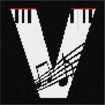 pepita Letter V Music Needlepoint Canvas - $39.60