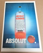 ABSOLUT MANDRIN (Canadian Version) Large-Size Newspaper Vodka Ad - $9.99