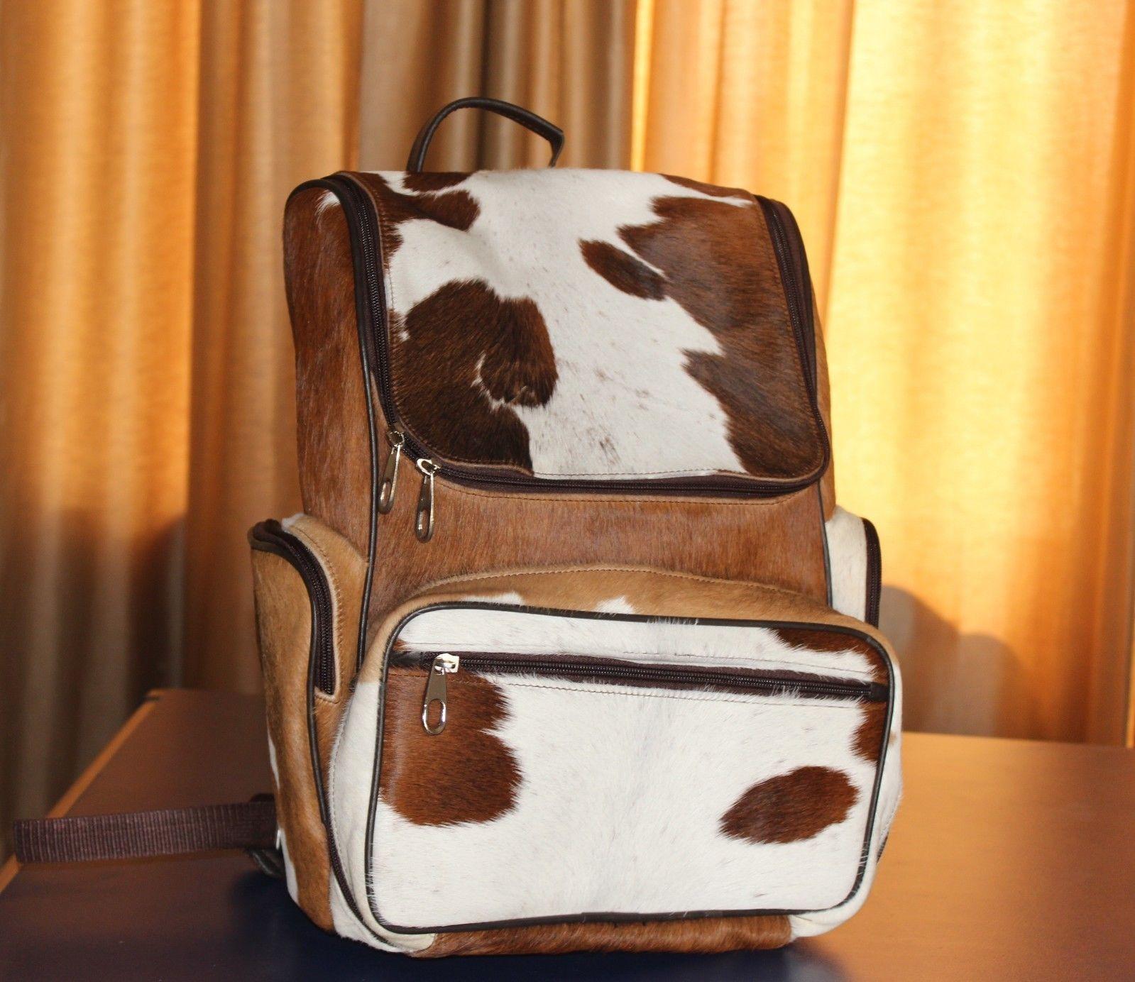 Cowhair Backpack natural leather ladies Genuine Cowhide Weekender Shoulder Bags