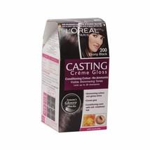 L'Oreal Paris Casting Creme Gloss, Ebony Black 200,87.5g+72ml FREE SHIP - $19.70