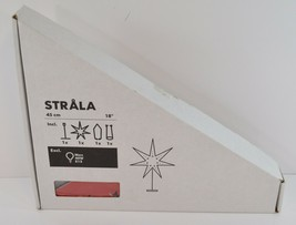 "IKEA Strala Star Lamp w/ Shade RED 18"" NEW IN BOX Home Decor 12.682.44 - $29.99"