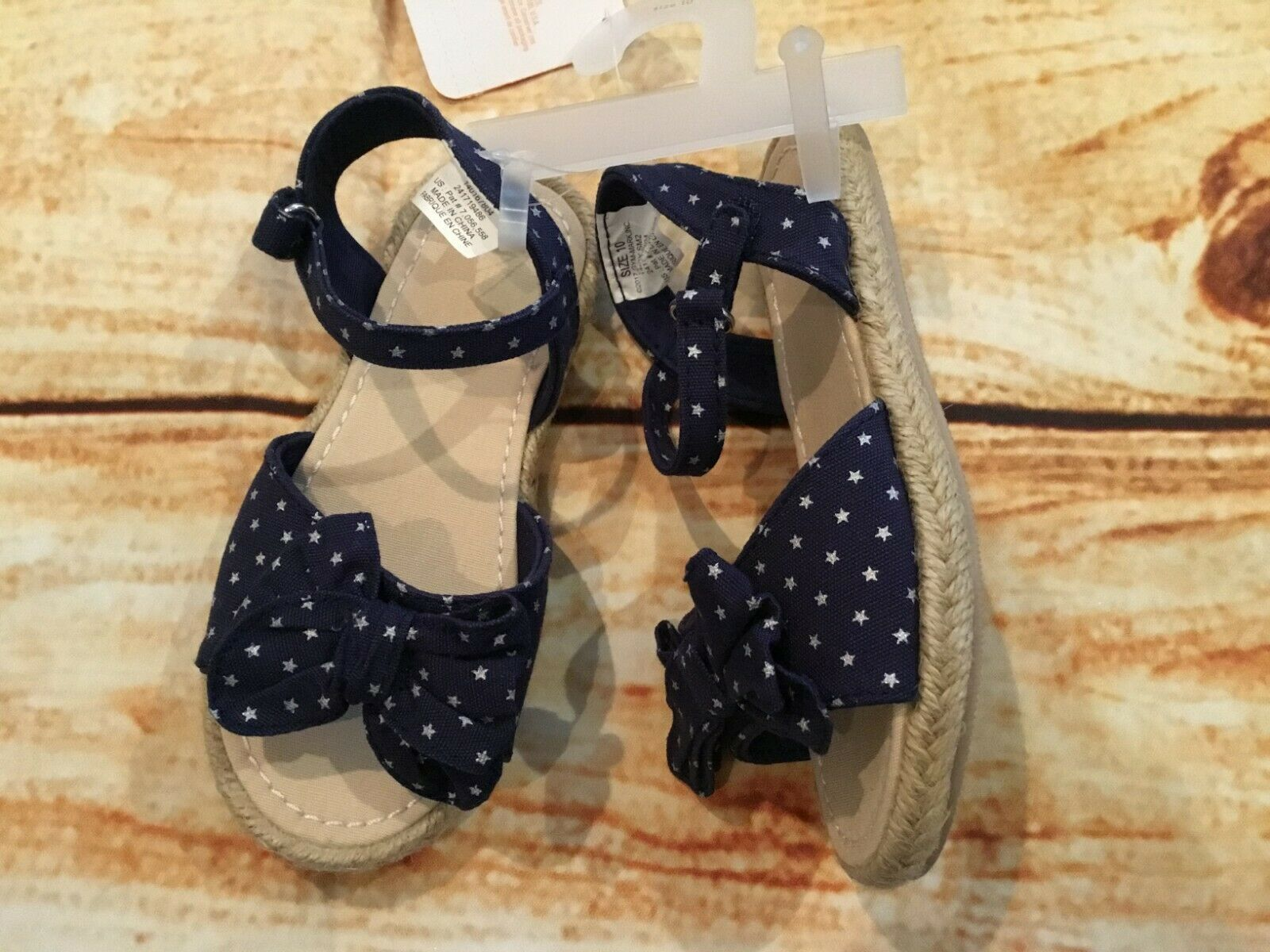 Gymboree 10 Blue Star Sandals Espadrilles Red White & Cute Toddler Girl NWT