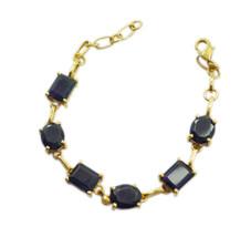 Purple Gold Plated Glass excellent Amethyst CZ wholesales Bracelet AU gift - $22.73