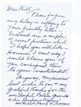 Henry Wilcoxon Signed Handwritten Letter Cleopatra Caddyshack - $86.62