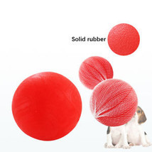 Rubber Dog Balls Play Shoot Tough Rubber Ball Chew Toy Solid Hard - $7.77