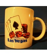 Las Vegas USA Coffee Cup Winning 4 Aces Cards Dice Poker Chips Lucky 7 G... - $19.79