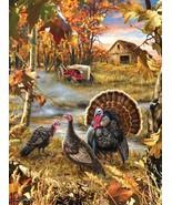 "NEW SunsOut Jigsaw Puzzle 1000 Pieces Tiles ""Turkey Ranch"" - Dona Gelsinger - $29.40"