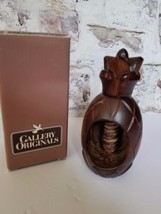 Avon Gallery Originals Pineapple Nutcracker Wooden-Screw Top With Box - $4.99
