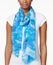 Calvin Klein Wave Chiffon Scarf Nile - $24.90