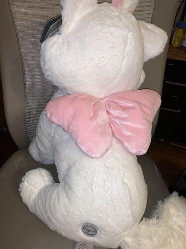 "Disney Store Marie Large Plush Aristocats White Cat 20"" Stuffed Animal NEW image 3"
