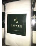 2pc Ralph Lauren White Cotton Twill Standards Pillow Shams NIP - 100% Co... - $42.06