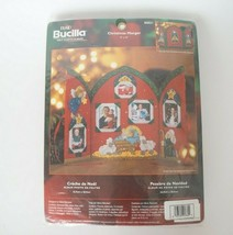 """Bucilla Christmas Manger Sequin Jeweled Sewing Kit 9"""" x 12"""" Holds Family... - $19.80"""