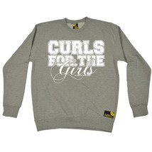 Curls For The Girls SWPS SWEATSHIRT jumper birthday funny gift fitness t... - $20.41