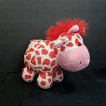 "Giraffe White Red Hearts Valentine Soft Chubby Plush Stuffed Animal 7"" R... - $15.83"