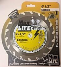 "Oldham 650C418 6-1/2"" x 18 Tooth Super Duty Carbide Saw Blade Univ. Arbor Carded - $4.95"