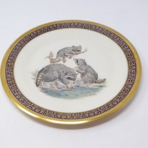 Lenox Boehm Gold Plate 1973 Plate Raccoons Woodland Wildlife - $5.13
