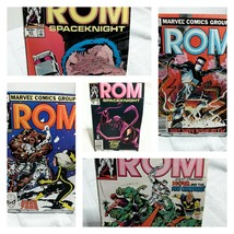 ROM Spaceknight Marvel Comic Book Lot of 5 issues 80s 24-45-46-47-62 - $13.09