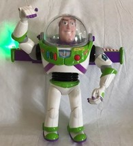 "Disney Toy Story 12"" Talking Buzz Lightyear Figure W/Lights Andy Name He... - $18.80"