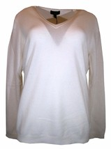 Charter Club Luxury Womens Ivory White V-Neck Cashmere Sweater XL $139 [... - $59.07 CAD