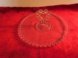 "Elegant Imperial Glass Co Candlewick 8 1/2""  Tidbit Tray w/Heart Center... - $11.87"