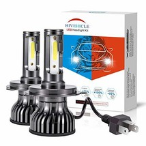HIVEHICLE H4 9003 HB2 Led Headlight Bulbs – 70W 10000LM/Pair 6000K,+200%... - $50.41