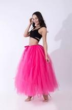 Women RAINBOW Maxi Skirt Drawstring Waist Mint Gray Maxi Tulle Skirt Petticoats image 14
