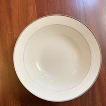 "NEW Nikko White Lace Platinum 9"" Round Vegetable Bowl 982176 - $24.74"