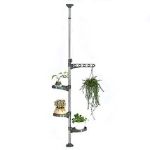 Baoyouni 4-Layer Flower Display Rack Tension Pole Plant Stand Indoor Bal... - $49.16
