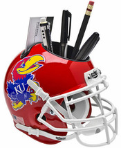 Kansas Jayhawks (Red) NCAA Football Schutt Mini Helmet Desk Caddy - $21.95