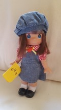 "7"" Precious Moments Vinyl Doll wearing apple hat holding ABC book pre-ow... - $21.59"
